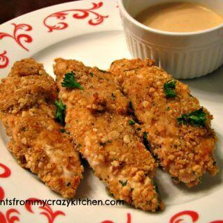 Cashew Crusted Chicken Strips