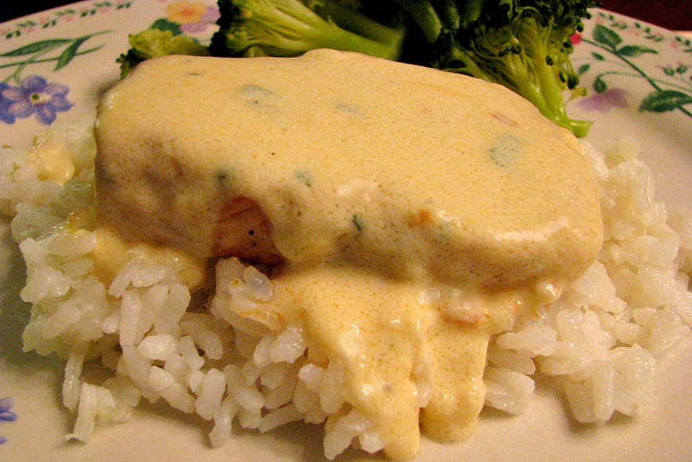 Pan Seared Chicken with a Gouda Cream Sauce