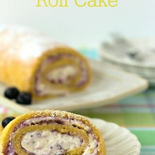 Blueberries N Cream Roll Cake – Guest post from It's Yummi