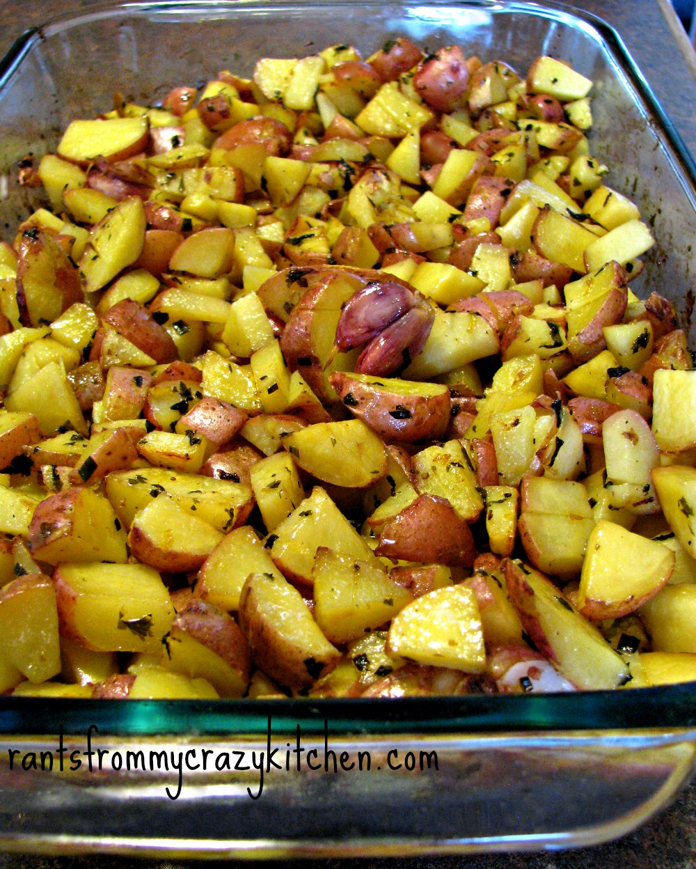 ... of Salt: Lemon Herb Roasted Potatoes - Rants From My Crazy Kitchen