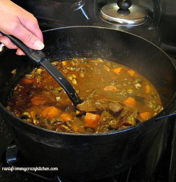Beef Stew Simmering