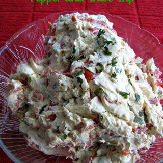 Sweet and Sour Pepper and Olive Dip