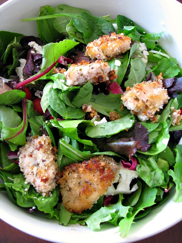 Crispy Honey Chicken with Spring Salad Mix