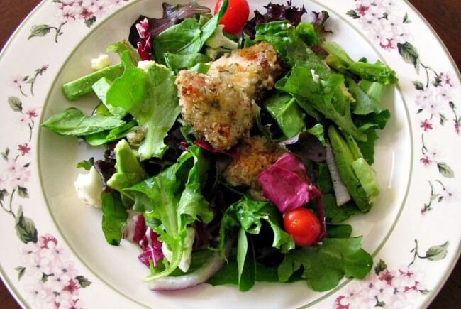 Crispy Honey Chicken Spring Salad