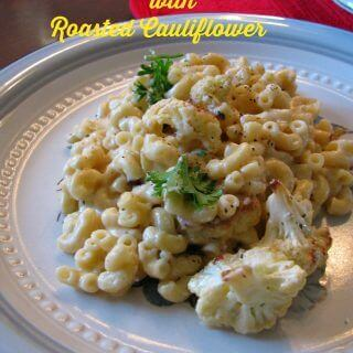 Four Cheese Mac and Cheese with Roasted Cauliflower