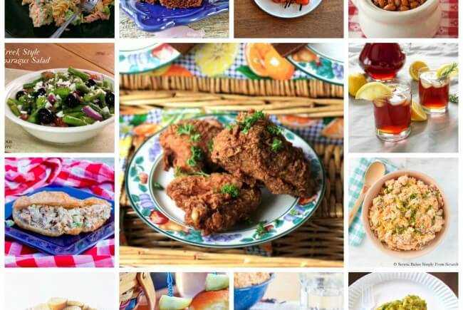14 National Picnic Day Recipes- A collection of all the recipes you need to plan the perfect picnic! Includes fried chicken, pasta salads, great desserts, and a refreshing beverage.