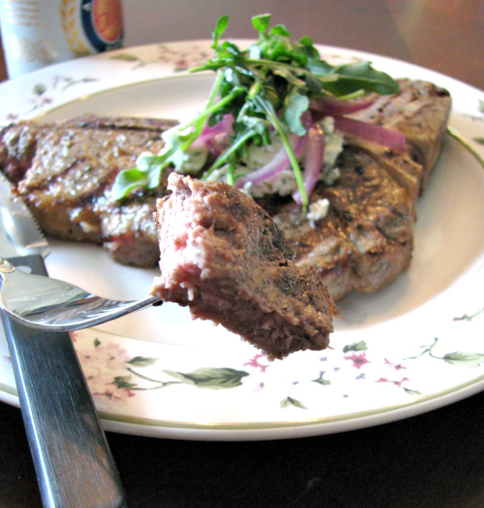 Beer Marinated Grilled Porterhouse Steak- tender, juicy, and full of flavor!