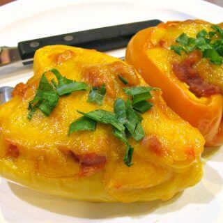 Cheesy Sloppy Joe Stuffed Peppers
