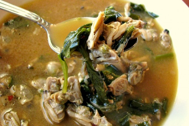 Spinach Clam Soup