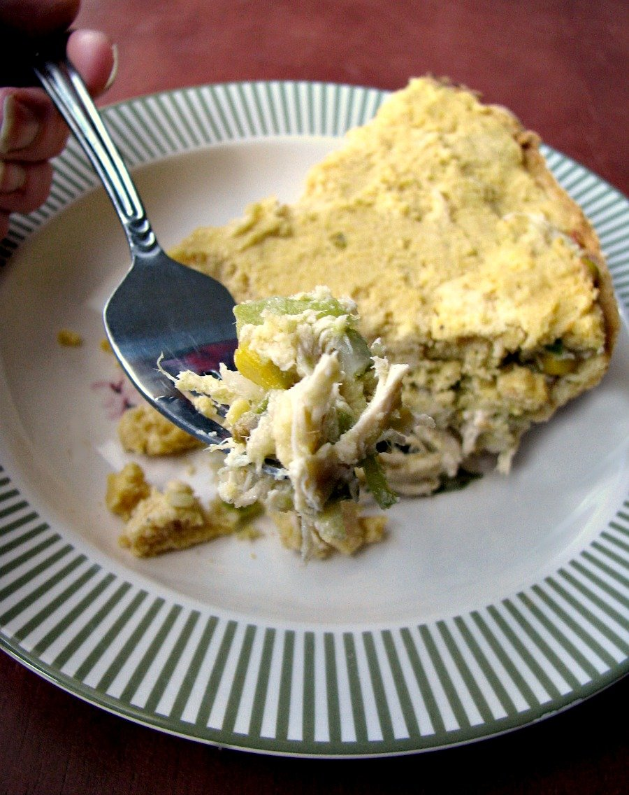 Chicken-Tamale-Pie-Fork