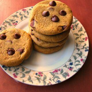 Chewy Pumpkin Chocolate Chip Cookies #PumpkinWeek
