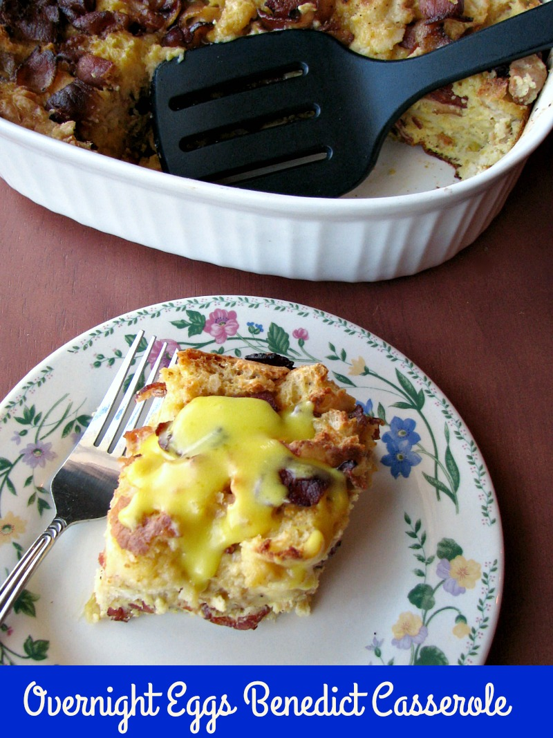 This Overnight Eggs Benedict Casserole with homemade Hollandaise sauce is perfect for Christmas morning or Sunday brunch. Just a few minutes of prep work the night before and you can have a delicious breakfast ready without any stress in the morning.