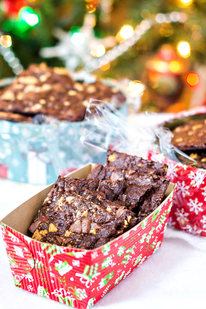 Peppermint Bark Brownie Bark- Jenni Field's Pastry Chef Online