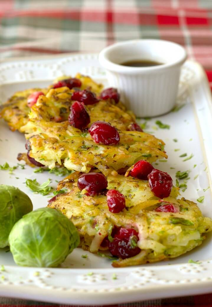 Cranberry Brussels Sprouts Potato Pancakes- It's Yummi