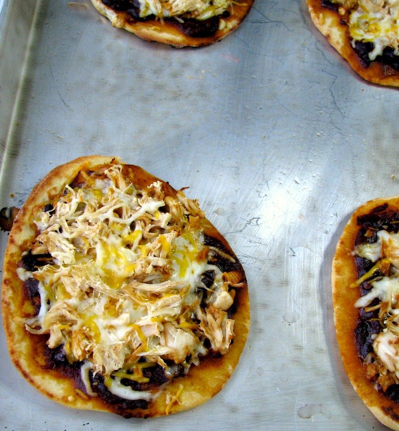 Baked Chipotle Chicken Naan Pizza