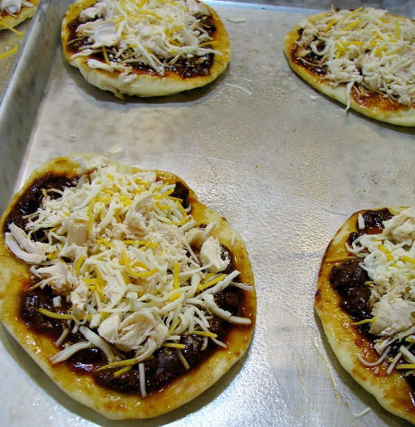 Topped Chipotle Chicken Naan Pizza